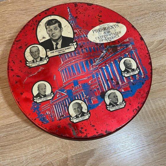 VINTAGE Presidents of the USA Tin 1960s